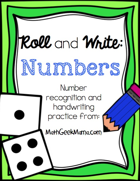 Roll and Write Number Pages