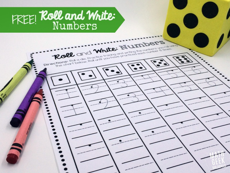 Numeracy roll the dice Mathematic count the number /& write the number