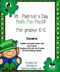 St. Patrick's Day Math Pack {K-1}