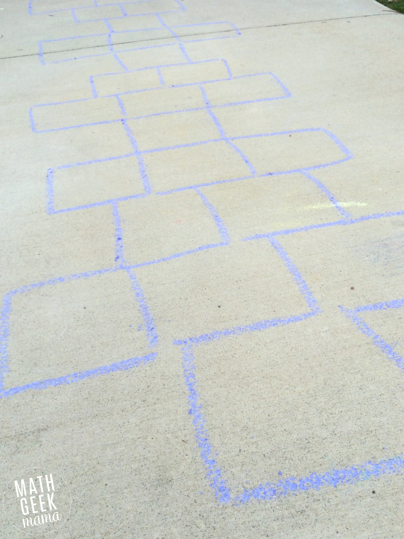 This is such a fun and SIMPLE way for kids to get moving and practice skip counting! Skip counting hopscotch is a fun twist on the traditional game that kids love!