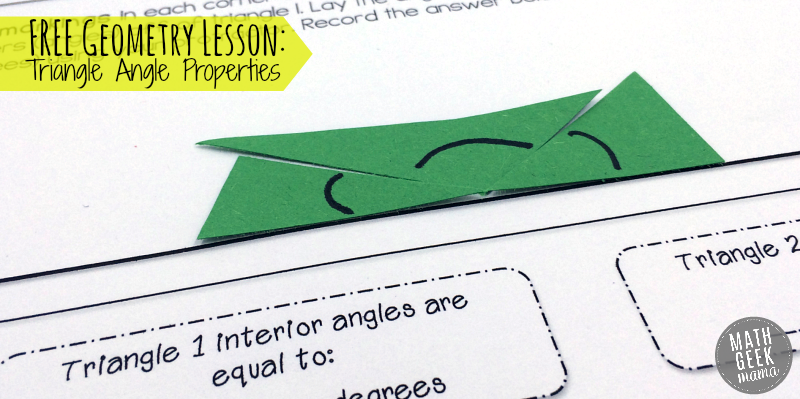 Interior and exterior angles of triangles worksheet pdf