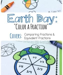 Earth Day Color a Fraction Pack! {FREE}
