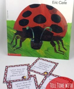 Telling Time with The Grouchy Ladybug! {FREE!}