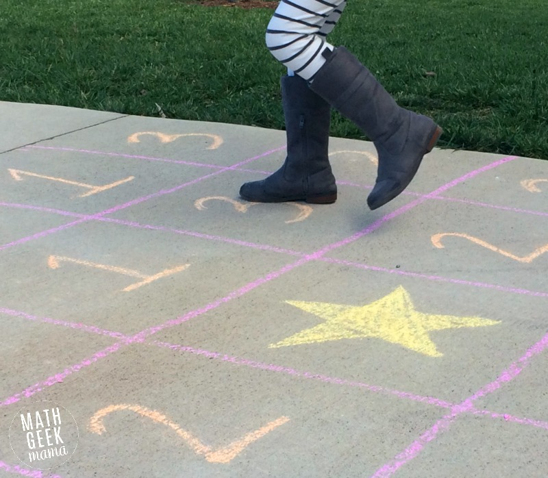 This unique game challenges kids to think logically, as well as practice counting! After playing, challenge kids to make a sidewalk chalk jumping maze of their own!
