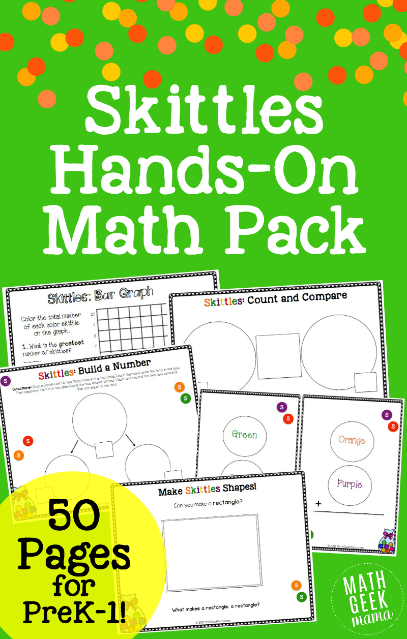 Huge Skittles Math Bundle - Math Geek Mama
