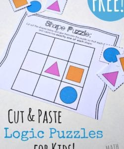 Cut and Paste Logic Puzzles for Preschoolers