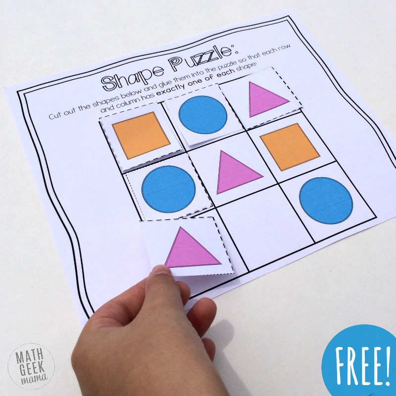 These fun, cut and paste logic puzzles are the perfect way to help your preschooler work on their logical reasoning skills! Plus, use them as an opportunity to discuss shapes, and work on fine motor skills!