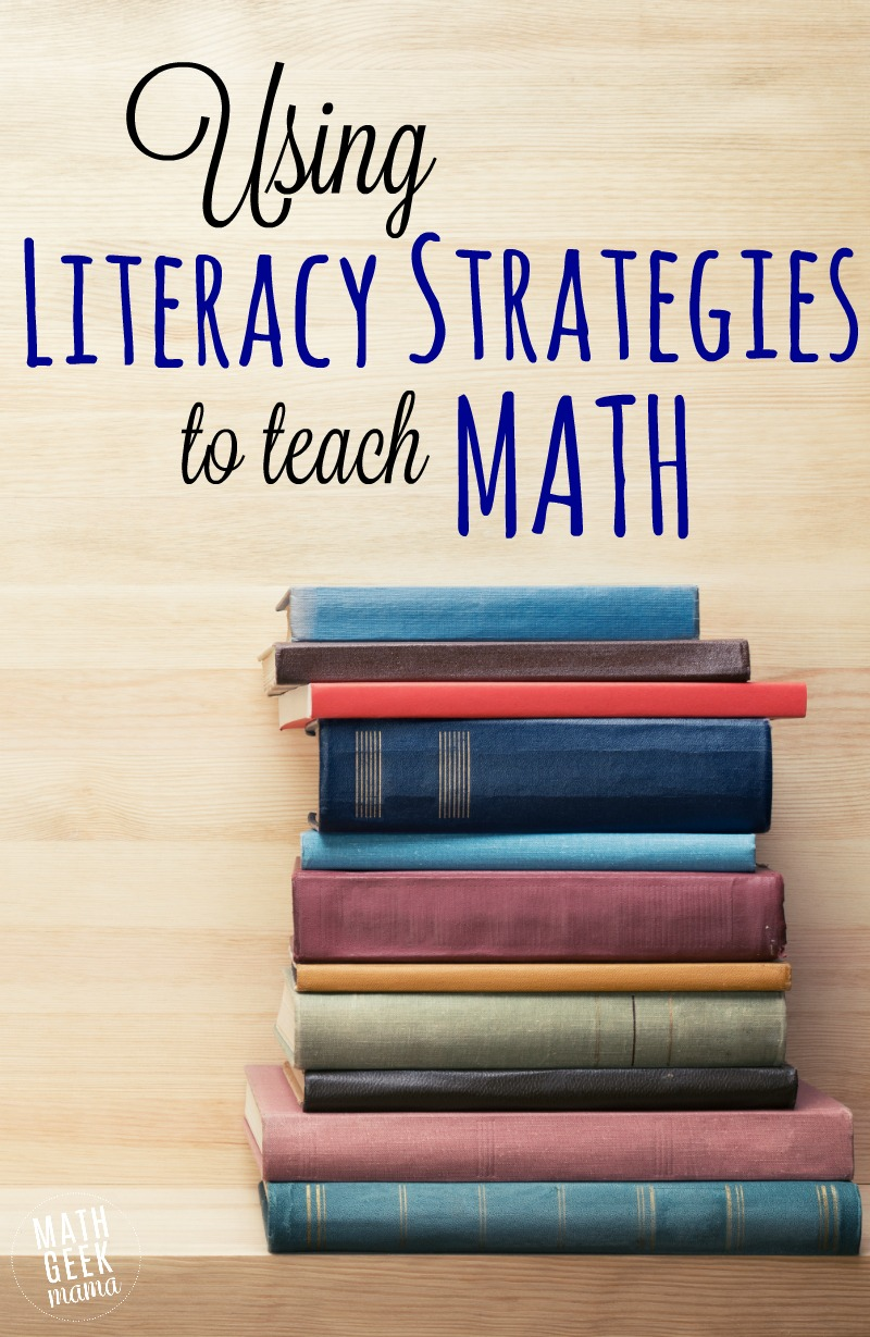 Did you know you can use common reading strategies to teach math as well? This post highlights some common literacy strategies that can be used to effectively teach math. Math instruction doesn't have to be overwhelming!