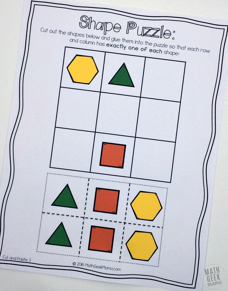 Hands on Logic Puzzles for Kids – Logic Worksheets
