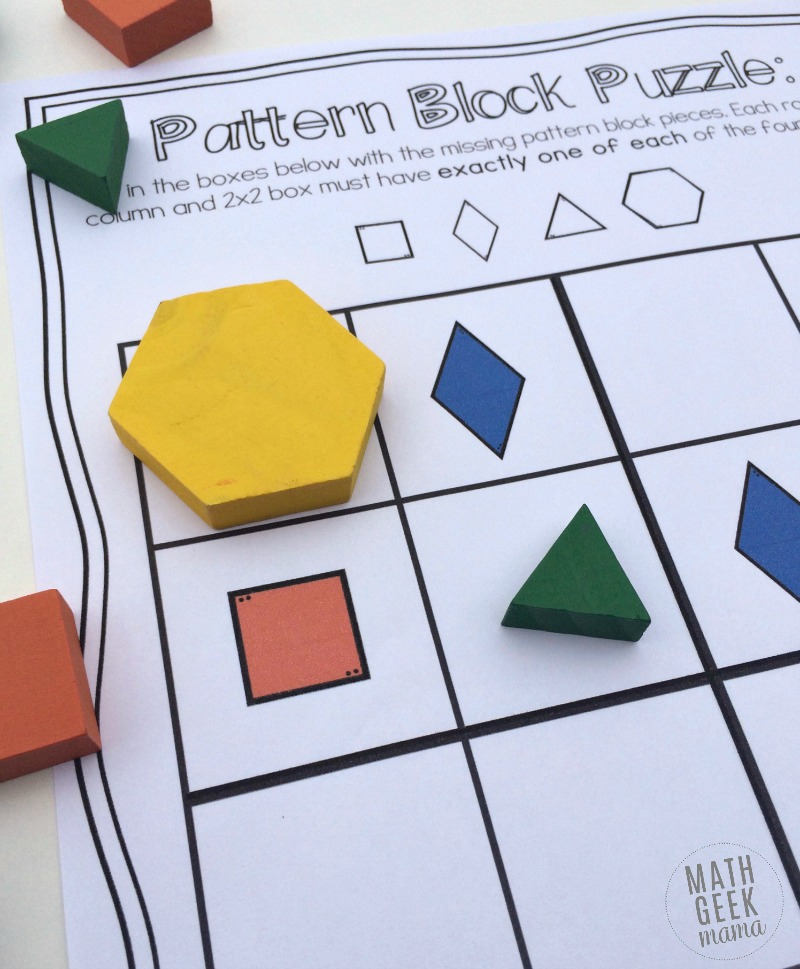 This awesome set of 40 hands on logic puzzles is a great way to get kids thinking and using their logical reasoning skills! Includes 4 different variations in color and black and white!