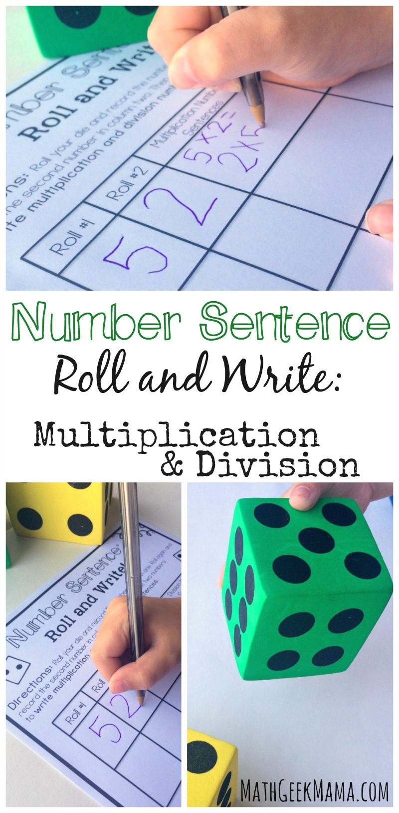 worksheet Multiplication And Division Fact Families simple and low prep multiplication division game free this activity helps kids see the inverse relationship between practice writing