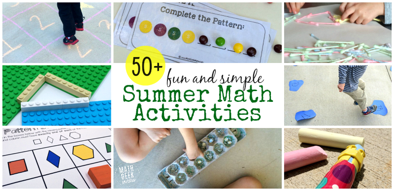 Fun and Simple Summer Math Activities