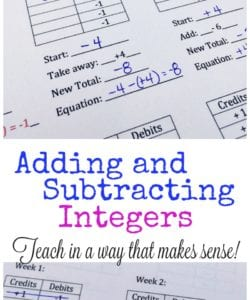 Adding and Subtracting Integers {FREE Lesson!}
