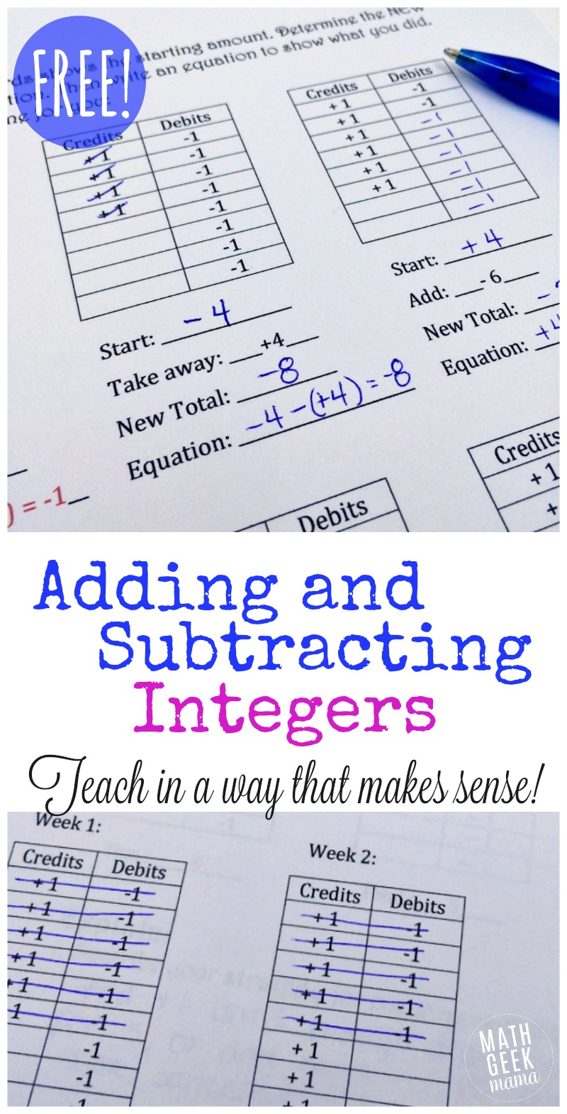 - FREE Adding And Subtracting Integers Lesson