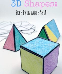 Foldable 3D Shapes {FREE Printable Pack!}