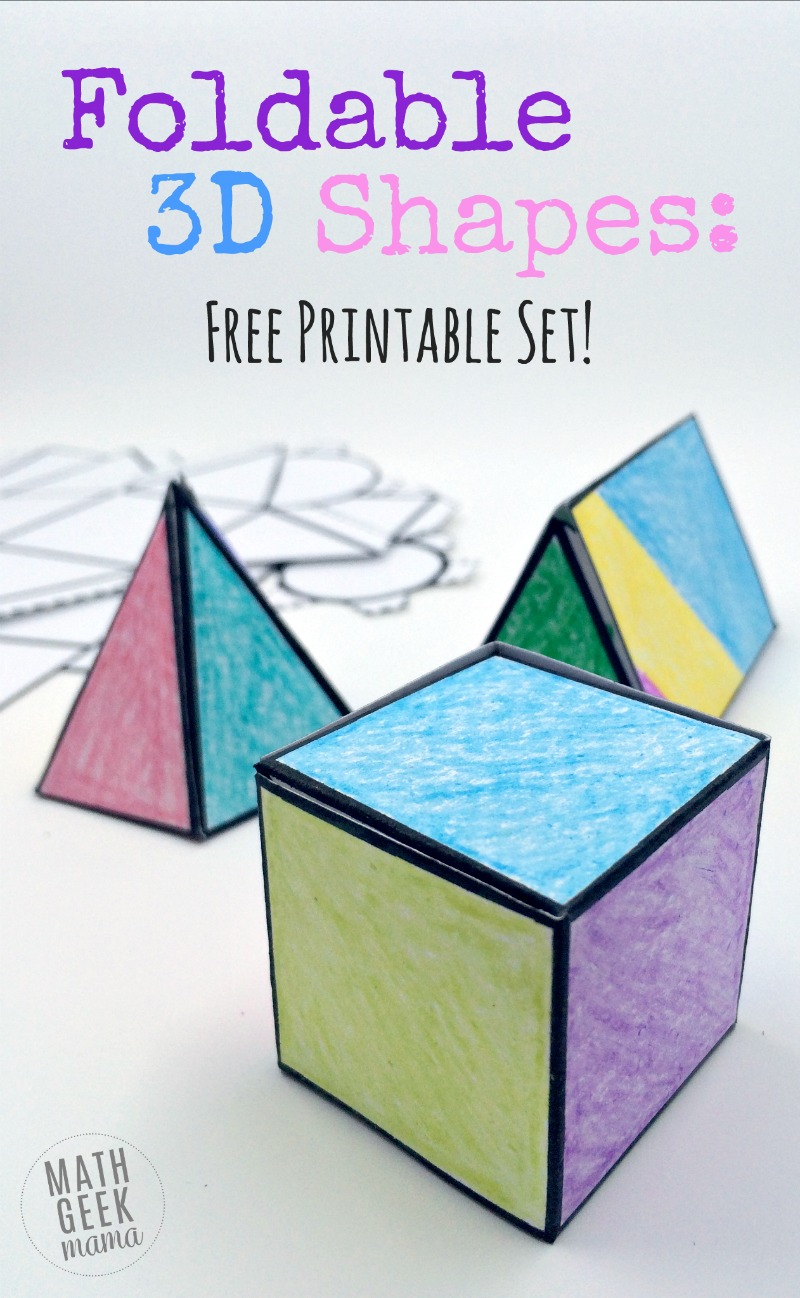 Foldable 3d Shapes Free Printable Nets