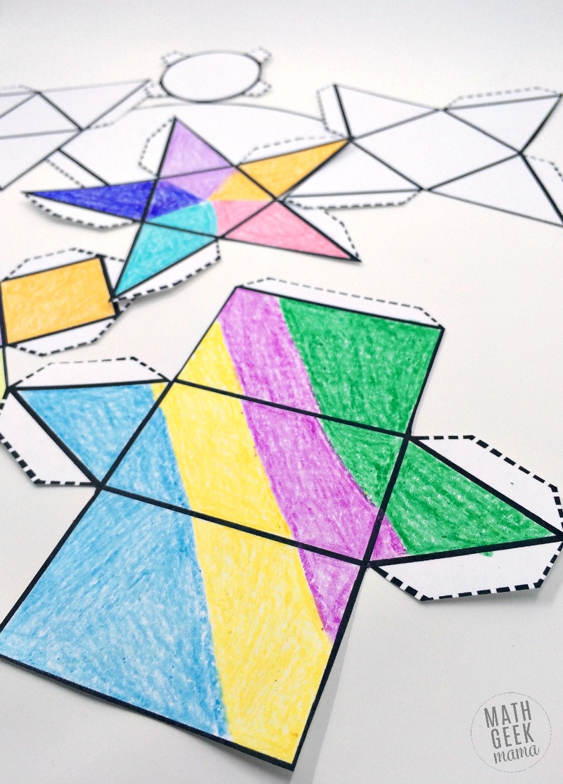 photograph about Printable Nets referred to as Foldable 3D Styles (Cost-free Printable Nets!)