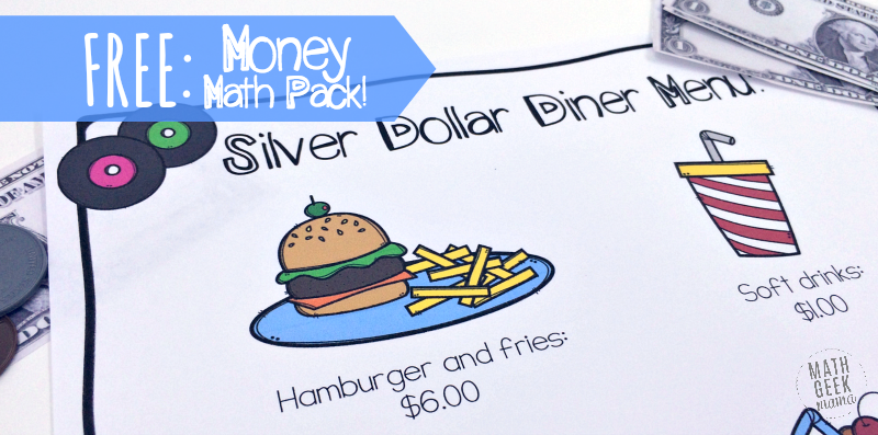 Money Math Practice Worksheets Diner Theme – Free Printable Menu Math Worksheets