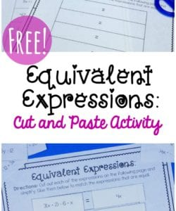 Equivalent Expressions Activity {FREE}