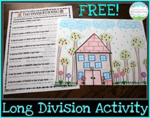 Long Division House Activity