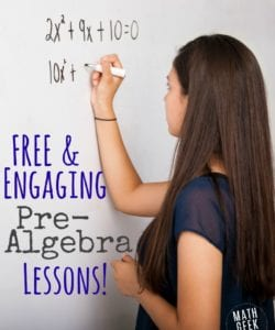 This post includes TONS of free Prealgebra or Algebra lessons and resources! Topics include expressions and equations, distributive property, exponents, absolute value and more. So many valuable resources for Algebra teachers in this post!
