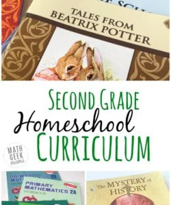 Read about my homeschool curriculum choices for second grade and get some new ideas for resources. Or share your choices as well! Included are second grade reading, phonics, spelling, math, science and history curriculum choices.