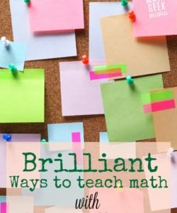Looking to put all those fun and brightly colored sticky notes to good use? Check out this list of fun math activities with sticky notes! Tons of math learning ideas, teaching tips and games to teach math with sticky notes and make it fun.