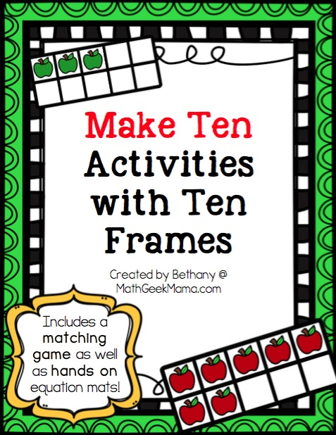 Apple Ten Frame Games Math Geek Mama