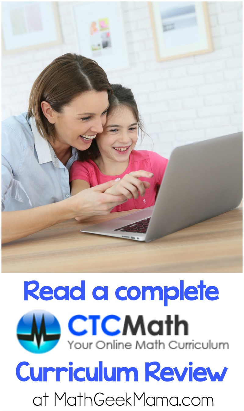 Interested in an online homeschool math curriculum? Read a full review of CTC Math and see if this would be a good fit for your family.