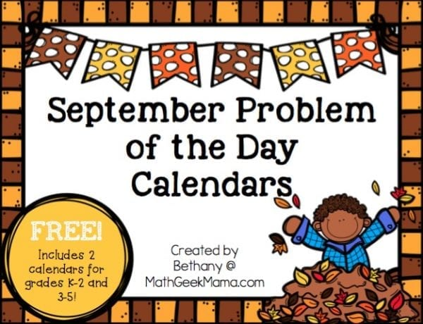 Grab this FREE printable calendar to work on important early math concepts! This download includes 2 different calendars for grades K-2 and grades 3-5. Plus, there's a fun twist that kids will love! Click to get your own copy!