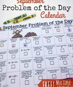 September Problem of the Day Calendar