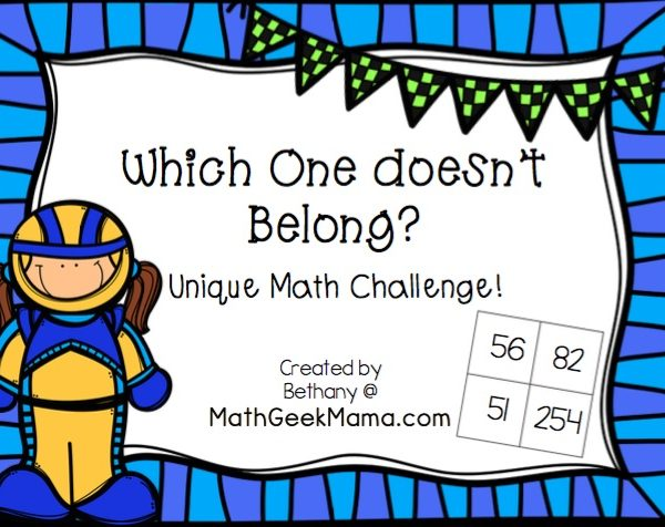 Challenge kids of all ages with this unique critical thinking challenge: which number doesn't belong? There are countless right answers to spark thinking and math talks in your home or classroom!