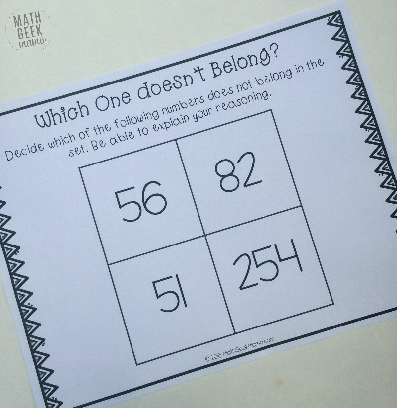 This unique math challenge will get kids of all ages thinking! There isn't just one right answer, so use these math sets to encourage math talks and spark a likely debate!