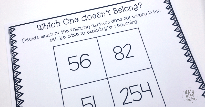 Which Number Doesnt Belong Math Challenge For Kids