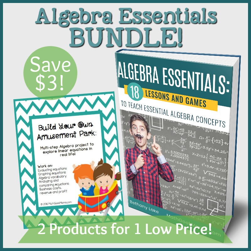 Algebra Essentials Lesson BUNDLE - Math Geek Mama