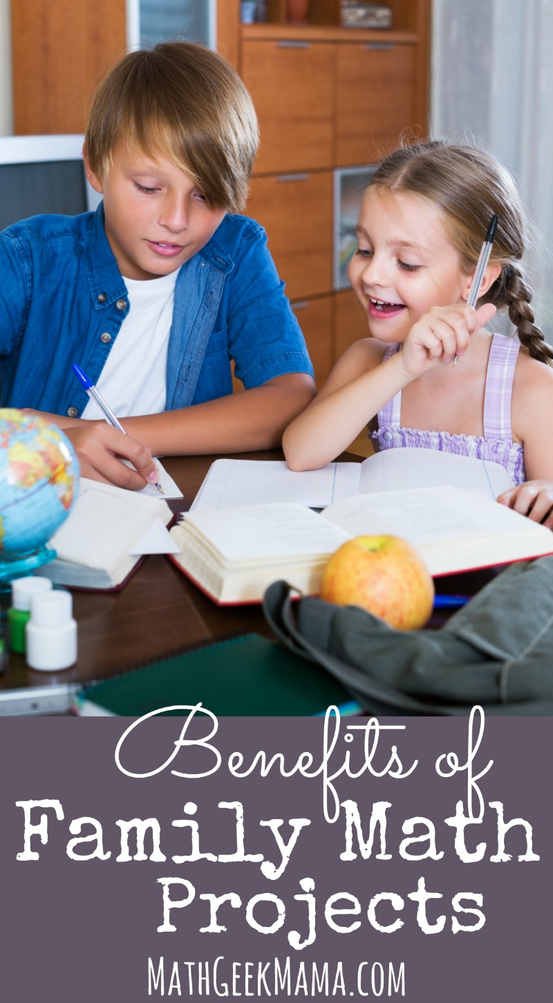 Did you know that it's possible to do math together as a family? Even with kids of different ages? Read about the benefits of family math projects and get some simple ideas to get started!