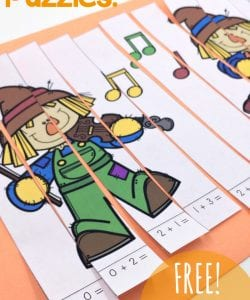 These adorable and simple to use addition and subtraction puzzles are perfect for Fall. Help kids increase their fact fluency as they solve the problems, and then place them in order to complete the puzzle. Then, glue them down for a fun finished product! Includes 4 puzzles for adding and subtracting within10.