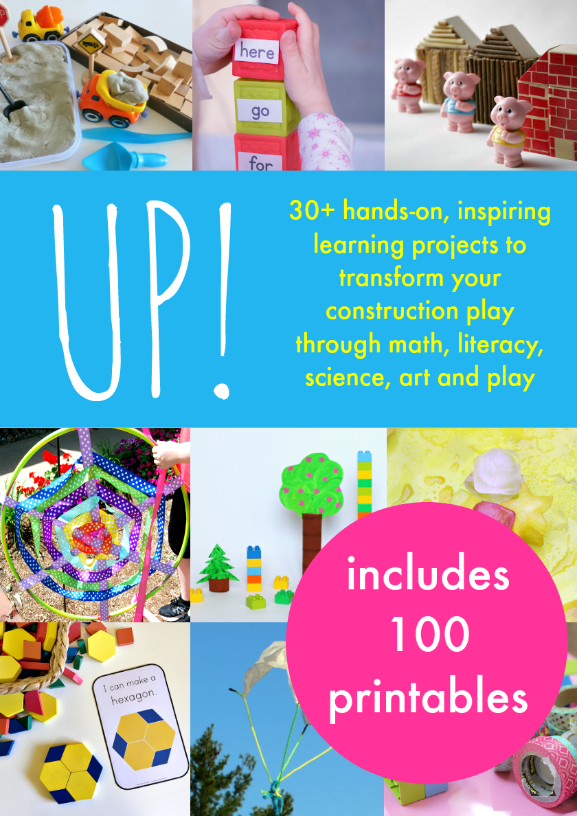 This fantastic resource will give your kids tons of fresh ideas for their block corner! This book is filled with fun and unique ideas your kids will love. Plus, it includes 100 pages of printable ideas that you can use as well!