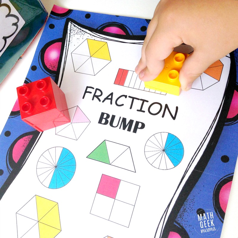 Equivalent fraction game 3rd grade