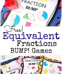 Simple, Low Prep Equivalent Fractions Game! {FREE}
