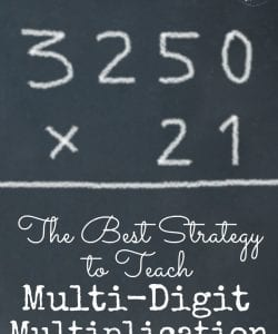 Want to help your kiddos multiply large numbers with ease? This strategy makes it simple and can be used with any combination of multi-digit numbers. Also includes a handy FREE printable to use!