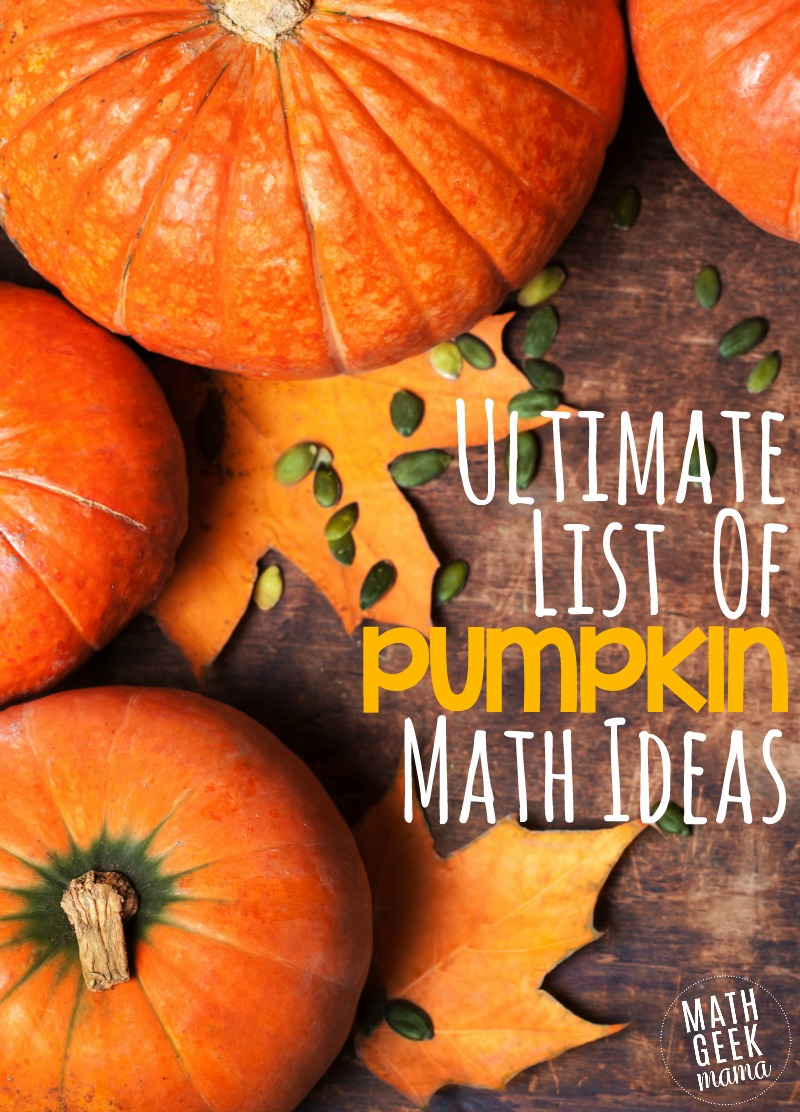 Looking for fun and unique pumpkin math activities this Fall? Look no further-this post is full of pumpkin math ideas from Kindergarten through high school, so there's something for everyone!