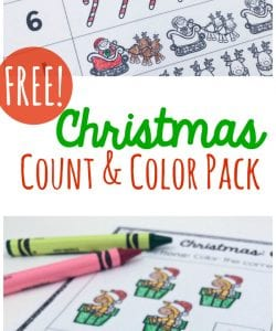 Christmas Count and Color Pages {FREE}