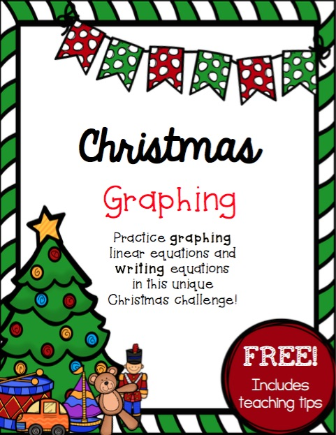 Looking for a fun and unique way to practice graphing linear equations this December? This simple and FREE challenge will help kids make sense of graphing and writing linear equations and challenge them in a fun, Christmas-themed way!