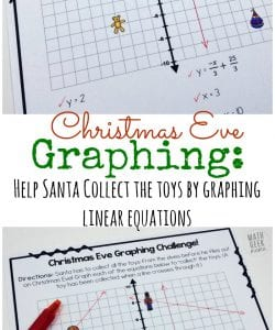 Christmas Graphing Challenge: Graphing Linear Equations
