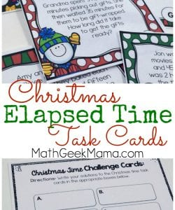 Christmas Themed Elapsed Time Practice {FREE}