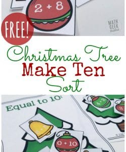 Christmas Make Ten Sort {FREE}
