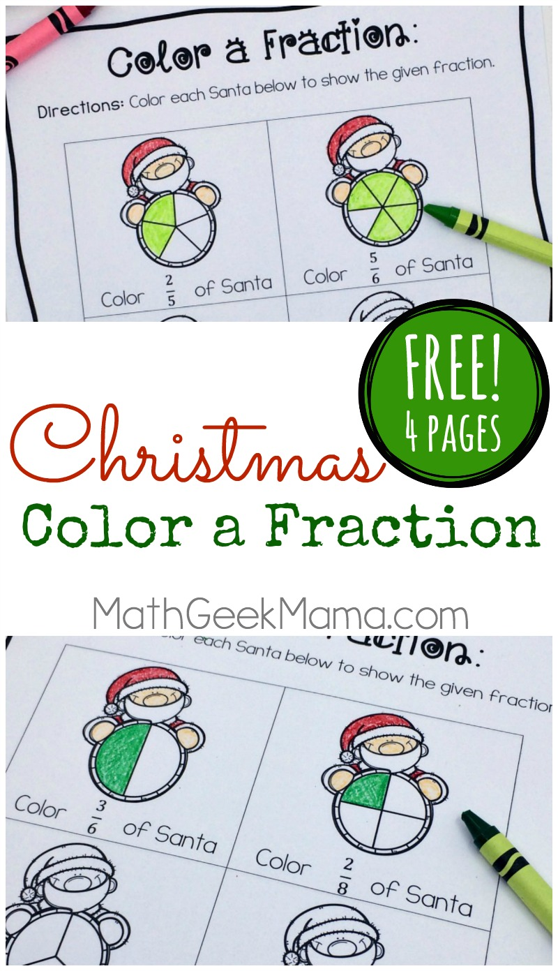 Christmas Fraction Worksheets for 35 Grade FREE – Fractions of a Set Worksheets