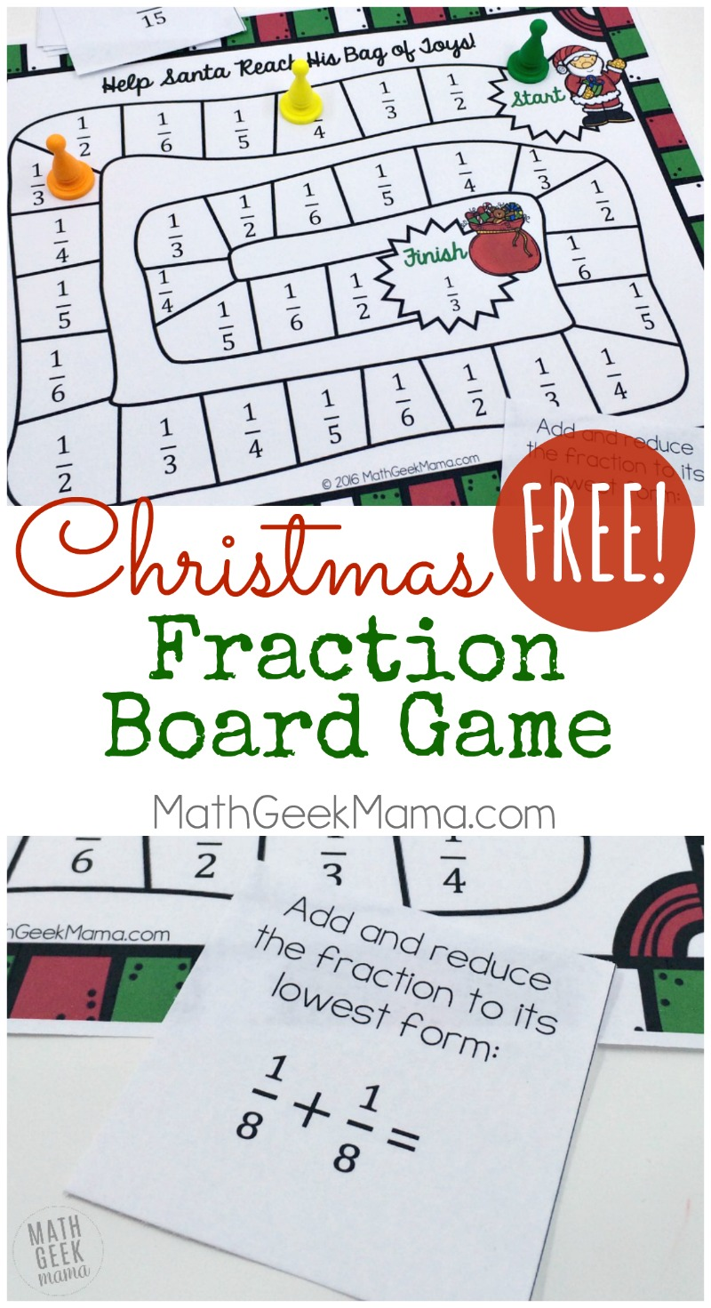image about Fraction Cards Printable referred to as Xmas Themed Printable Portion Activity No cost