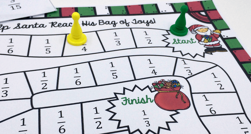 photo about Free Printable Fraction Games named Xmas Themed Printable Portion Video game Totally free
